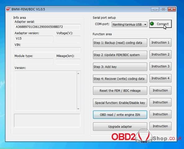 Yanhua BMW FEM BDC key learn