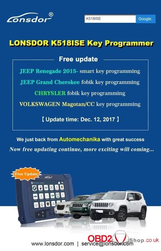 LONSDOR K518ISE Key Programmer Free update-12