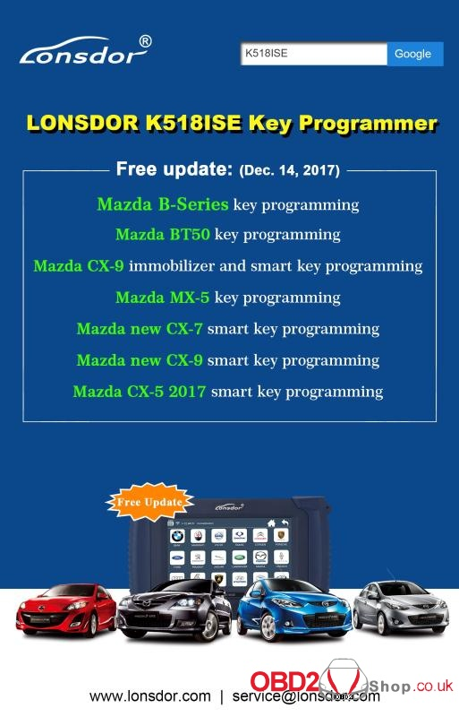 LONSDOR K518ISE Key Programmer Free update-14