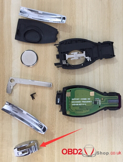 How to assemble the case with VVDI BE key Pro improved version board-7
