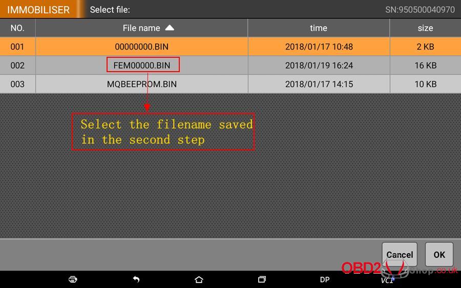 How to use OBDSTAR X300 DP Key Master DP Program BMW FEMBDC Smart Key-35