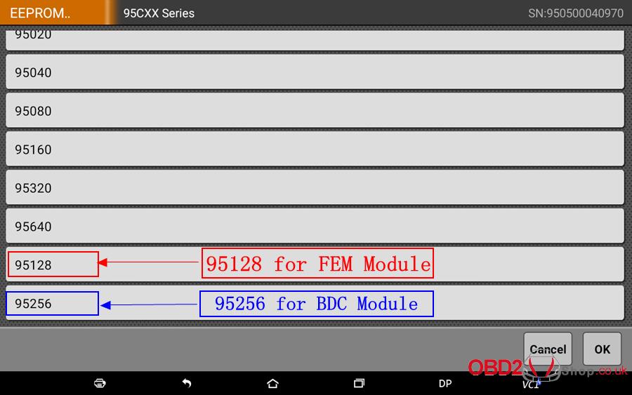 How to use OBDSTAR X300 DP Key Master DP Program BMW FEMBDC Smart Key-45