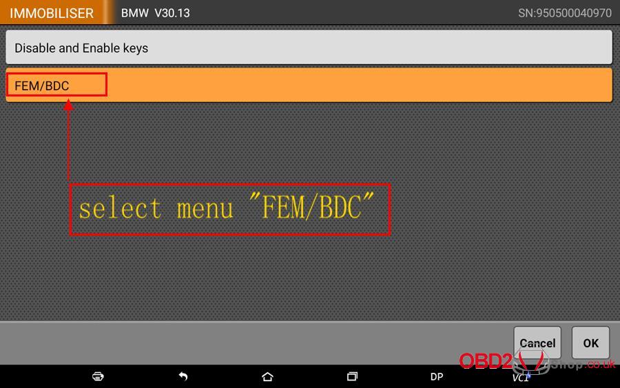 How to use OBDSTAR X300 DP Key Master DP Program BMW FEMBDC Smart Key-5