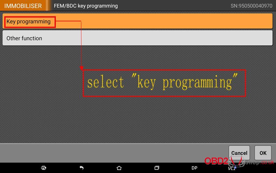 How to use OBDSTAR X300 DP Key Master DP Program BMW FEMBDC Smart Key-6