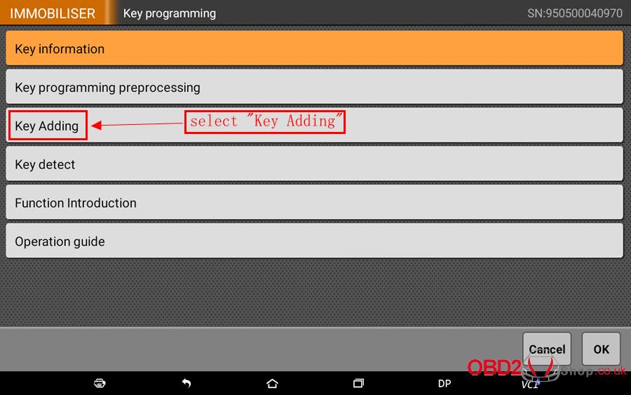 How to use OBDSTAR X300 DP Key Master DP Program BMW FEMBDC Smart Key-65