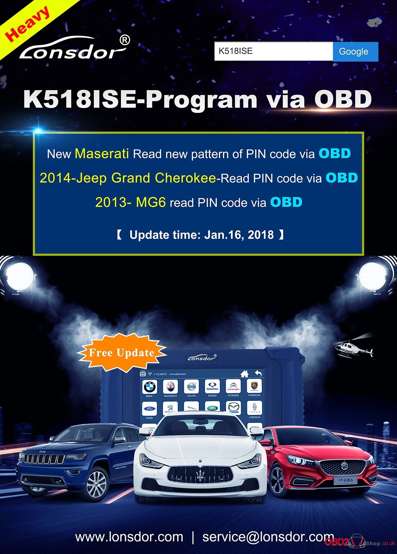K518ISE Program via OBD