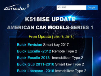 K518ISE Update American car models-Series 1-1