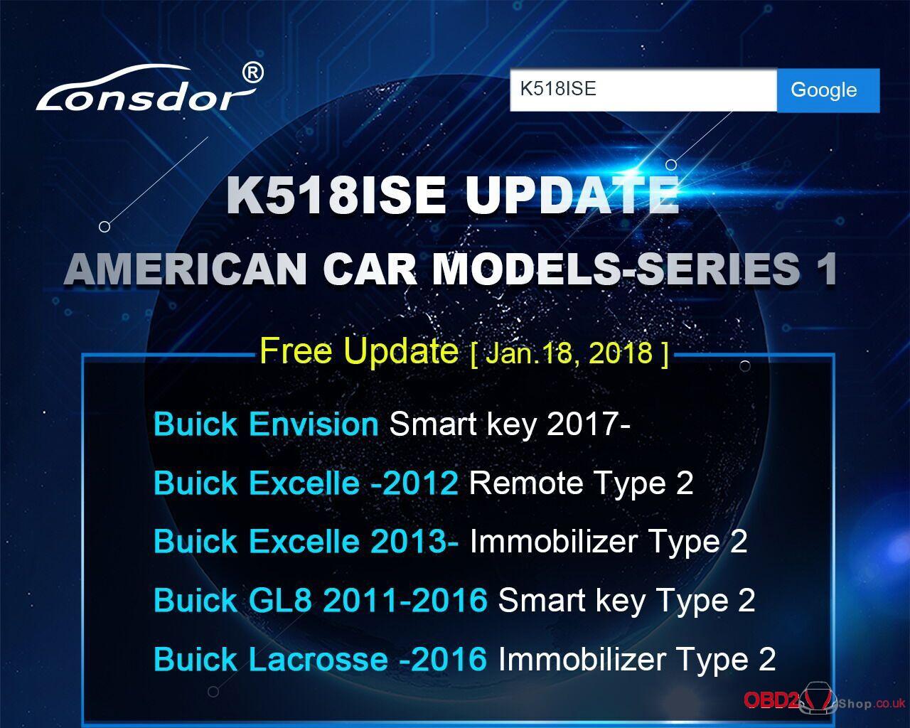 K518ISE Update Americancar models-Series 1-1