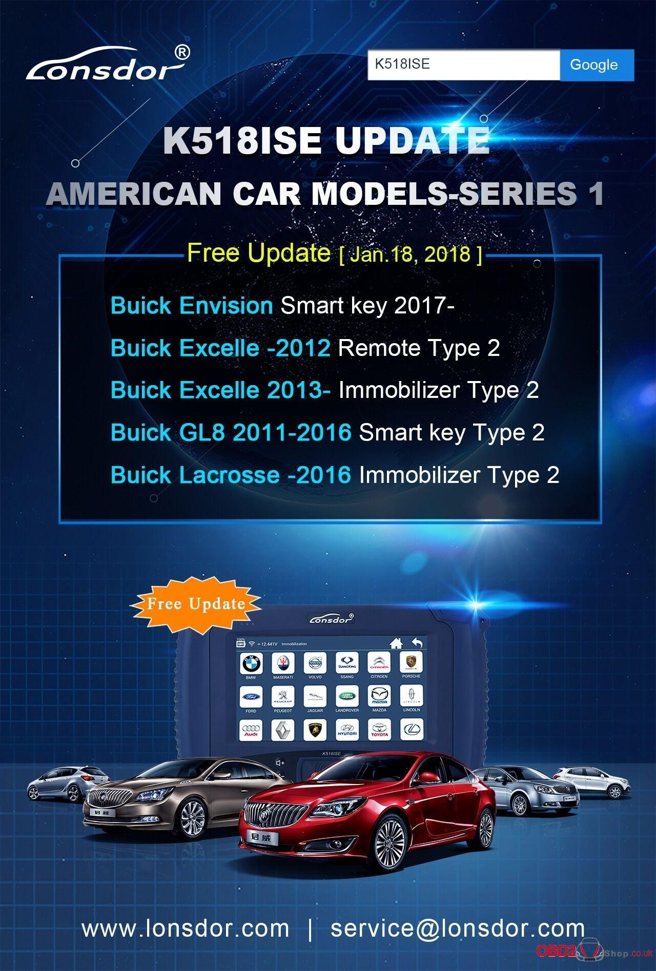 K518ISE Update Americancar models-Series 1