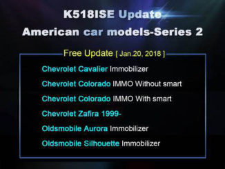 K518ISE Update American car models-Series 2-1