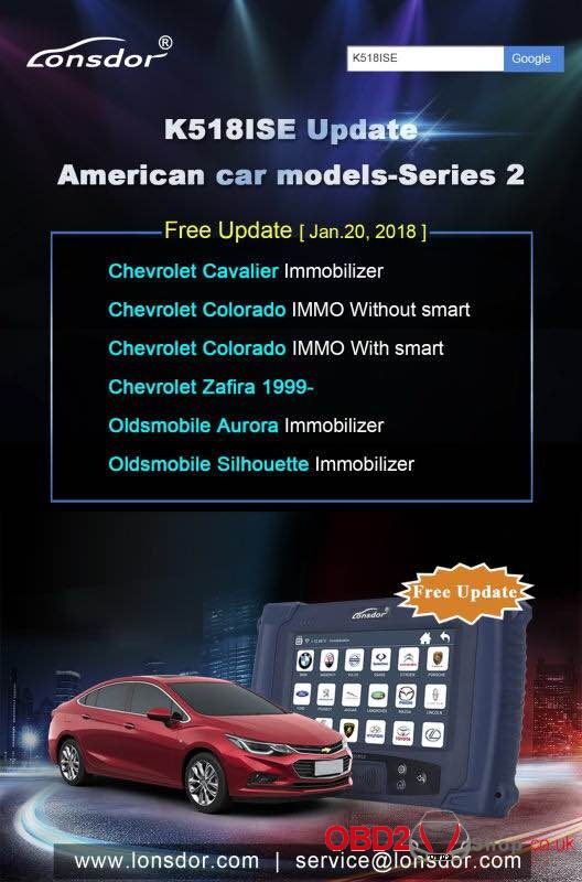 K518ISE Update American car models-Series 2