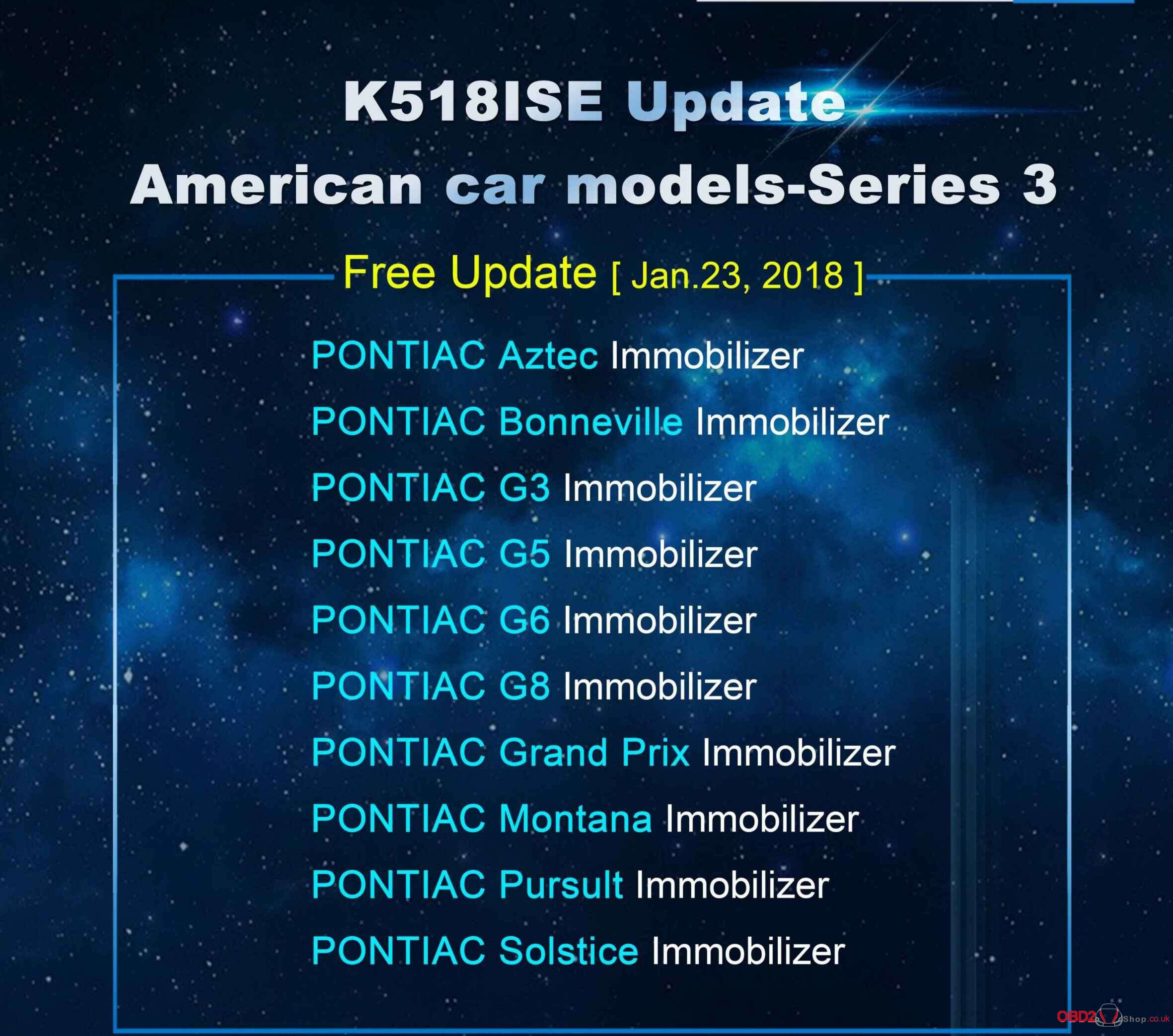 K518ISE Update American car models-Series 3-1