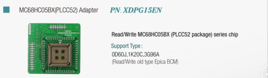 MC68HC05BX(PLCC52) Adapter