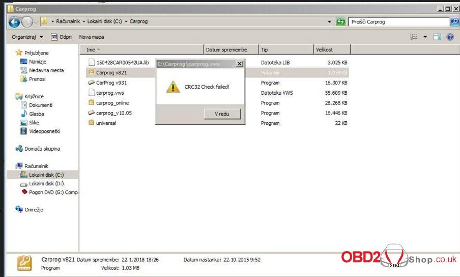 carprog-error-crc32-check-failed