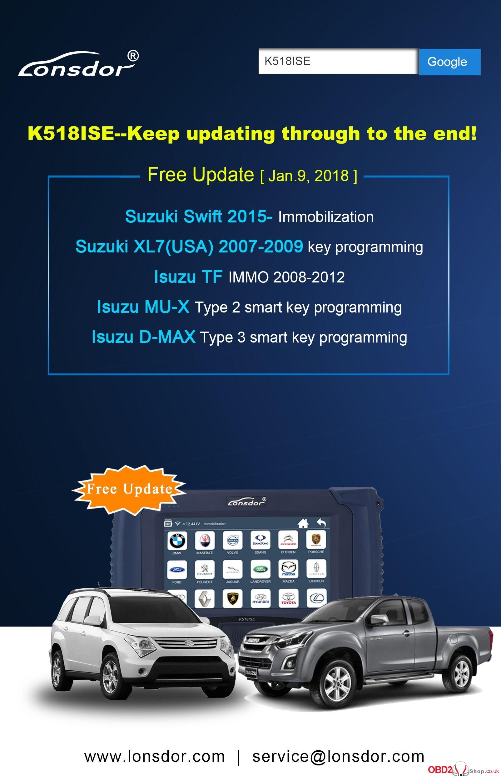lonsdor k518ise free update