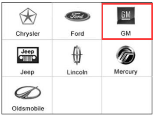 Select the GM Logo from the car make screen