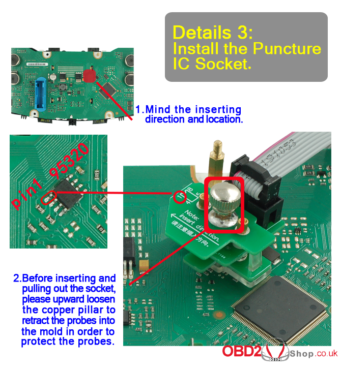 install puncture ic socket note