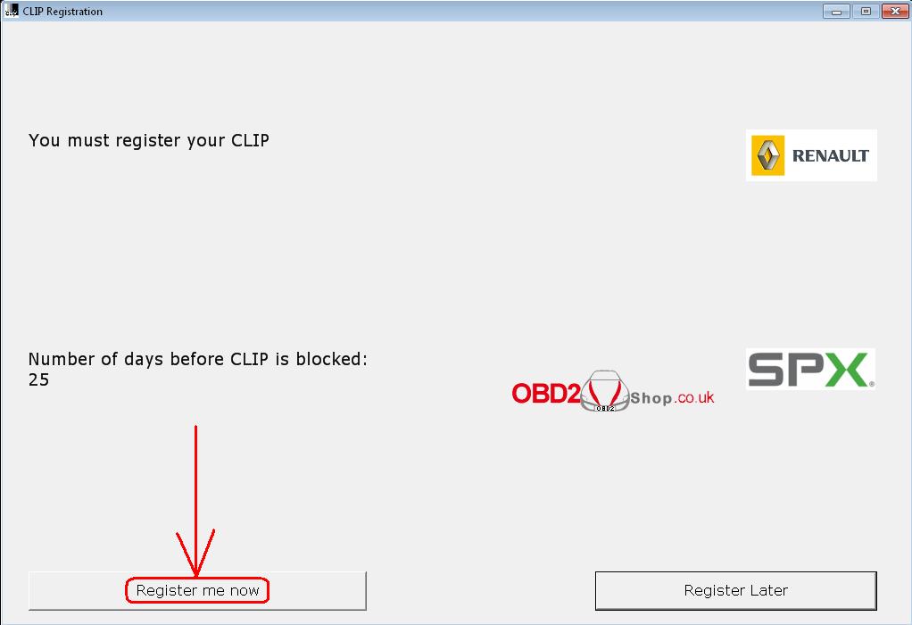Renault CLiP Registration Step-1