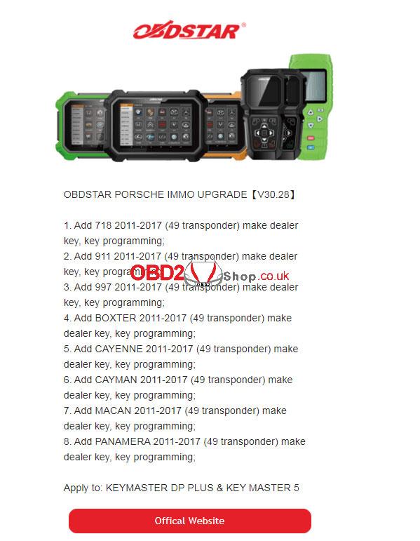 obdstar-x300-dp-plus-porsche-immo-car-list-upgrade-v30