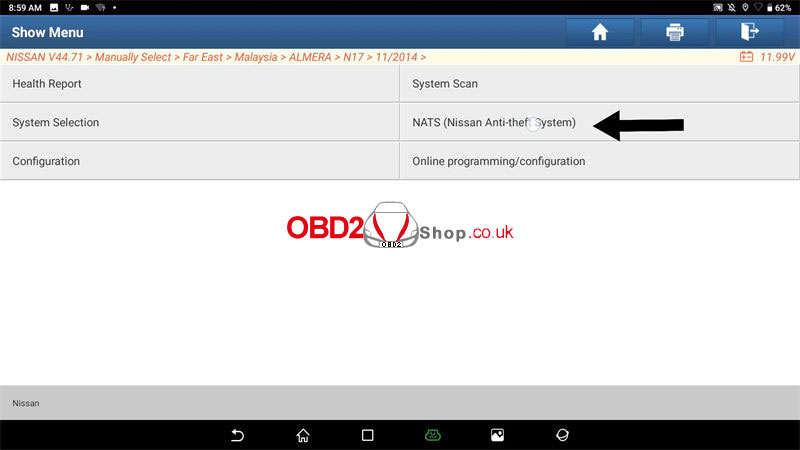 register-nissan-immo-key-via-launch-x431-after-replacing-bcm-(2)