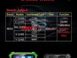 obdstar Benz Cluster Calibration Upgrade V30.54